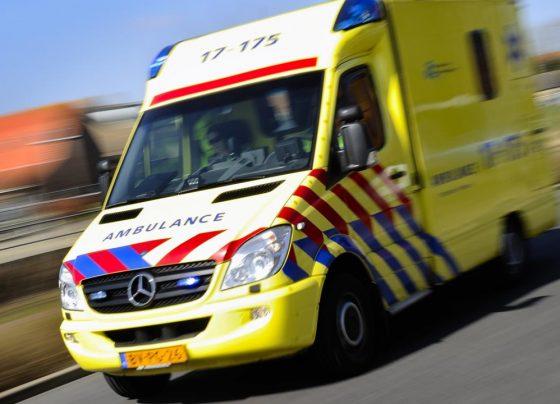Ambulance, ongeluk en botsing